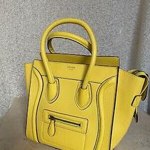 Celine Micro Luggage Handbag Yellow Photo