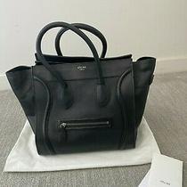 Celine Mini Luggage Black Leather Authentic Photo
