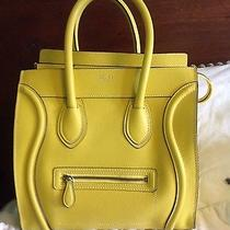 Celine Mini Luggage Citron Yellow Drummed Leather Handbag (With Receipt) Photo