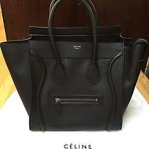 Celine Mini Luggage Tote - Black Drummed Leather Photo
