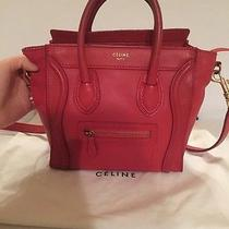 Celine Nano Red Bag Photo