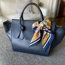Celine Navy Calfskin Leather Mini Tie Tote Bag Photo