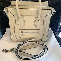 Celine Off White Beige Nano Luggage  Photo