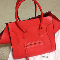 Celine Orange Small Phantom Tote Bag 100% Authentic  Photo
