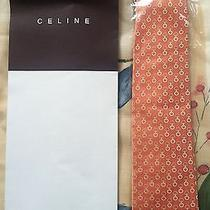 Celine Original Silk Tie Made in Italy New Nib Nwt With Gift Box Beautiful Gift Photo