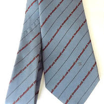 Celine Paris Blue Horse Bit Themed Pure Silk Tie  Photo
