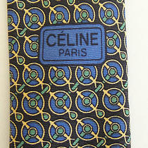 Celine - Paris  Pure Silk Tie  Euc Photo