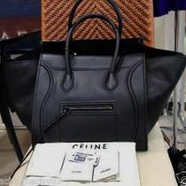 Celine Phantom Luggage (Black Drummed Leather) Photo