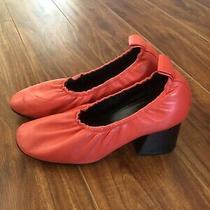 Celine Phoebe Philo Red Round Toe Pumps Heels Size 38/ Us 8 Photo