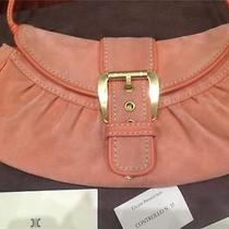 Celine Pink Orange Coral Leather Buckle Small Handbag/clutch Bag/baguette Authen Photo