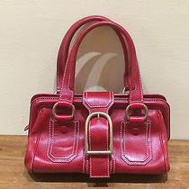 Celine Red Leather Handbag Photo