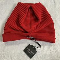 Celine Robert Chapeaux Merino Wool Ribbed Beanie Toque French Hat Sz M Red Photo