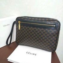 Celine   Se Lee Nu Clutch Bag Macadam Pattern Pvc Second Bag Rare Rar no.19617 Photo