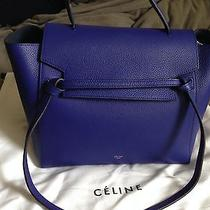 Celine Small Belt Bag in Indigo Drummed Calfskin Navy Blue Photo