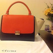 Celine Small Trapeze Bag Tricolor Orange  New Photo