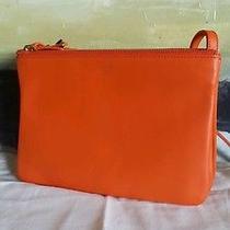 Celine Small Trio Bag in Bright Orange