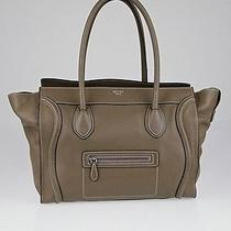 Celine Souris Drummed Leather Shoulder Luggage Tote Bag Photo