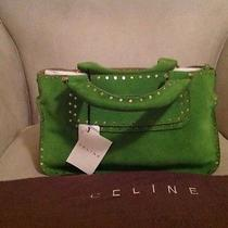 Celine Suede Green Bag Photo