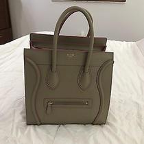 Celine Taupe/ Fuchsia Leather Luggage Tote Photo