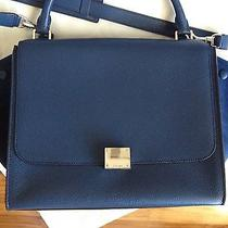 Celine Trapeze - Blue Drummed Leather/suede Silver Hardware - W/tags Receipt Photo