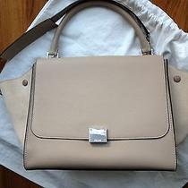 Celine Trapeze - Dune Drummed Leather/suede Silver Hardware - W/tags Receipt Photo