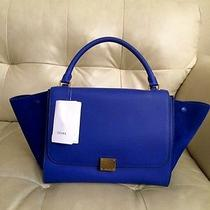 Celine Trapeze Indigo Medium Photo