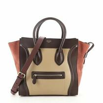 Celine Tricolor Luggage Bag Leather Mini Photo