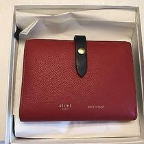 Celine Two-Fold Red/navy Leather Multifunction Wallet Medium Spring 2016860r Photo