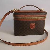 Celine Vanity Case Vintage Style Travel Bag With Shoulder Strap  Photo