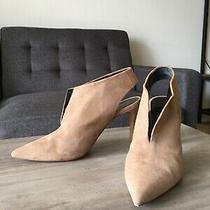 Celine Womens Heels Pump Slingback Shoes Suede Beige Size 35 1/2 Us 5 1/2 Photo