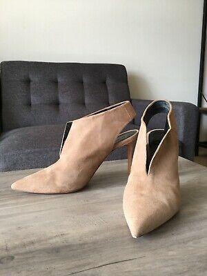 CELINE Women's Heels Pump Slingback Shoes Suede Beige Size 35 1/2 US 5 1/2 Photo