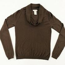 Celine Womens 100% Cashmere Cowl Neck Pullover Long Sleeve Sweater Brown Size M Photo