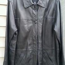 Centigrade Lamb Leather Barn Jacket Black Large Qvc Photo