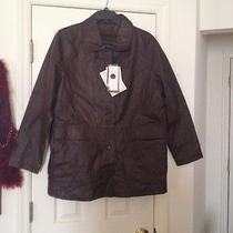 Centigrade Lamb Leather Button Front Lined Barn Jacket--Xl--Nwt Photo