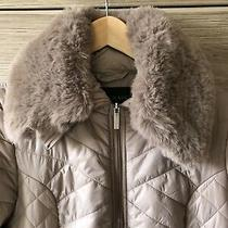Centigrade Light Warm Puffer Coat With Removable Fur Nude Blush  New Sz M 89.99 Photo