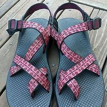 Chaco Yampa Sandals Pink Blush Floral Pattern Adjustable Size 9 Euc Photo