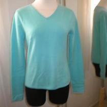 Chadwicks Aqua Blue Cashmere Sweater Size S - M Excellent Photo