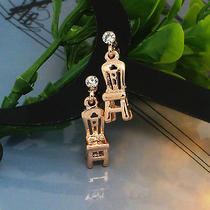 Chair Rose Gold Studs New Women Fashion Jewelry Ladies Crystal Stud Earrings Photo