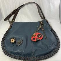 Chala Convertible Crossbody Hobo Whipstitched Bag Dark Blue Ladybug Coin Purse Photo
