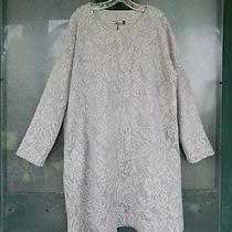 Chalet Usa Long Sleeve Nuri Tunic Dress -Xl- Blush Gray Floral Acrylic Blend Nwt Photo