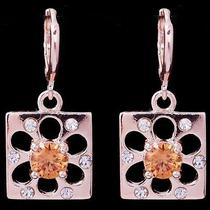 Champagne Design Hot Rose Gold Filled C.z Women Lady Earrings Jewelry Cz0059 Photo