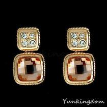 Champagne Shine  Designs  Stone  Sexy Gold Filled Women Lady Earrings Pm0111 Photo