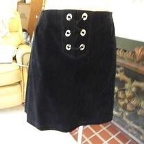 Champagnie International Express Black Velvet Velour  Mini Skirt 10 11 12 14 Photo