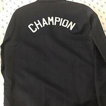 Champion Navy Coach Jacket Brand New -  Champion Spelled Out Sz Medium Photo