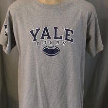 Champion Size Large Yale Bulldogs Rugby Team Heather Gray Blue Ss T-Shirt Photo