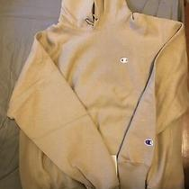 Champion X Urban Outfitters Uo Reverse Weave Taupe Hoodie Pullover Men's S Photo