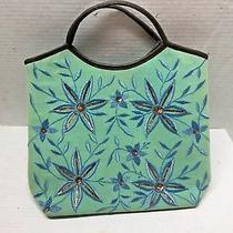 Chan Luu Bag Purse  Floral  Leather Handles  Photo