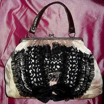 Chan Luu Hand Painted Silk & Tulle Tuxedo Kiss Lock Handbag Photo