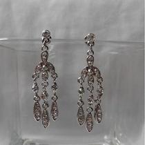 Chandelier Earrings Clear Swarovski Crystal Wedding Earrings  E2231 Photo