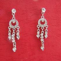 Chandelier Earrings Wedding Earrings Clear Swarovski Crystal E1067 Photo